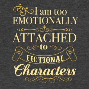 I am too emotionally attached to fictional charact - Men's V-Neck T-Shirt by Canvas