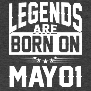 Legends are born on May 01 - Men's V-Neck T-Shirt by Canvas