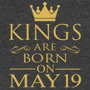 Kings are born on May 19 - Men's V-Neck T-Shirt by Canvas