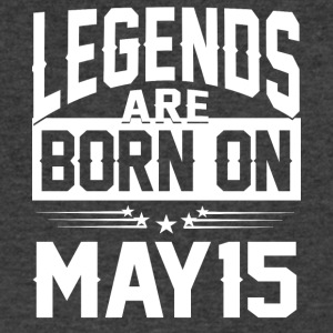 Legends are born on May 15 - Men's V-Neck T-Shirt by Canvas