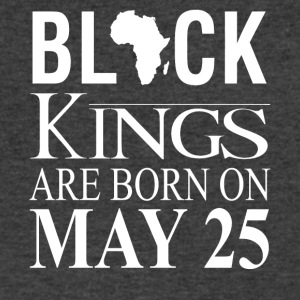 Black kings born on May 25 - Men's V-Neck T-Shirt by Canvas