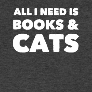All I need is books and cats - Men's V-Neck T-Shirt by Canvas