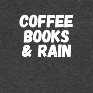 coffee books & rain - Men's V-Neck T-Shirt by Canvas