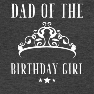 Dad of the birthday girl - Men's V-Neck T-Shirt by Canvas