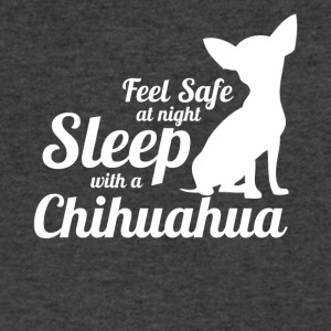 Feel Safe At Night Sleep With A Chihuahua - Men's V-Neck T-Shirt by Canvas