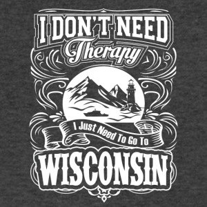 I Just Need To Go To Wisconsin - Men's V-Neck T-Shirt by Canvas