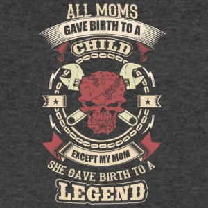 Mechanic's Mom Gave Birth To A Legend - Men's V-Neck T-Shirt by Canvas