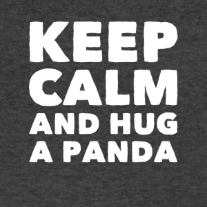 Keep calm and hug a panda - Men's V-Neck T-Shirt by Canvas