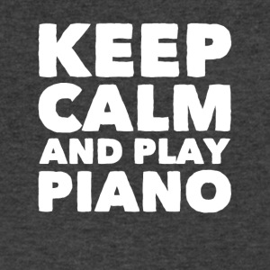 Keep calm and play piano - Men's V-Neck T-Shirt by Canvas