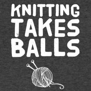 Knitting takes balls - Men's V-Neck T-Shirt by Canvas