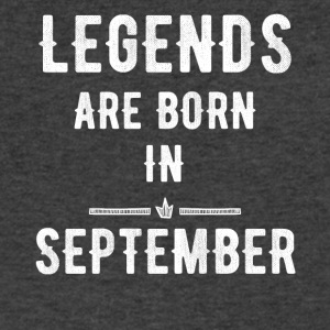 Legends are born in september - Men's V-Neck T-Shirt by Canvas