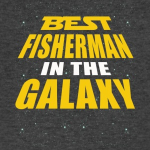 Best Fisherman In The Galaxy - Men's V-Neck T-Shirt by Canvas