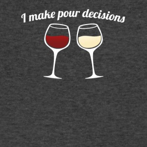 I Make Pour Decisions - Men's V-Neck T-Shirt by Canvas