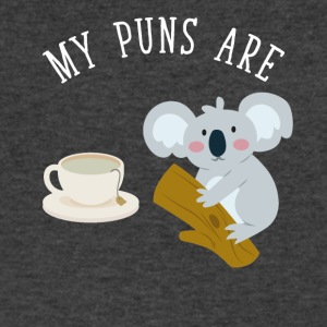 My puns are tea koala - Men's V-Neck T-Shirt by Canvas