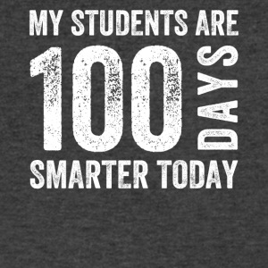 My students are 100 days smarter today - Men's V-Neck T-Shirt by Canvas