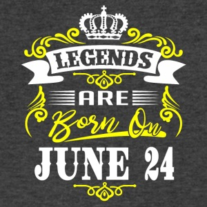 Legends are born on June 24 - Men's V-Neck T-Shirt by Canvas