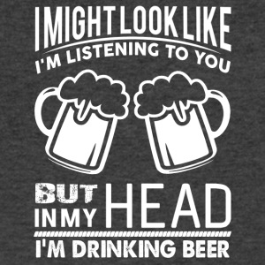 In My Head I'm Drinking Beer - Men's V-Neck T-Shirt by Canvas