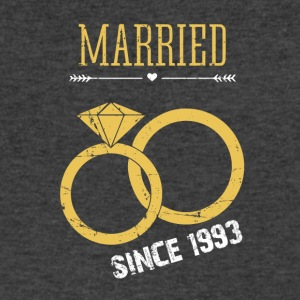 Married since 1993 - Men's V-Neck T-Shirt by Canvas