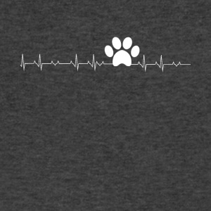 Pawprint heartbeat - Men's V-Neck T-Shirt by Canvas
