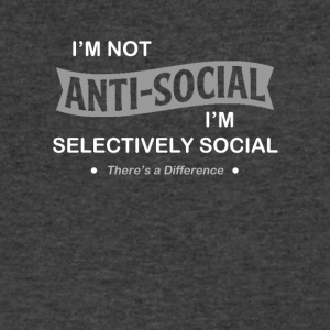 I'm not anti-social. I'm selectively Social. - Men's V-Neck T-Shirt by Canvas