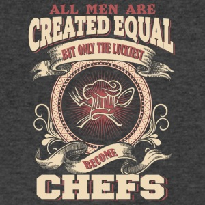 The Luckiest Men Become Chefs - Men's V-Neck T-Shirt by Canvas