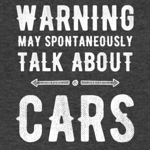 warning may spontaneously talk about cars - Men's V-Neck T-Shirt by Canvas