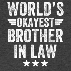 world's okayest brother in law - Men's V-Neck T-Shirt by Canvas