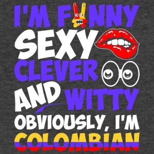 Im Funny Sexy Clever And Witty Im Colombian - Men's V-Neck T-Shirt by Canvas