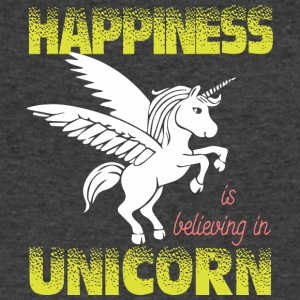 Happiness is believing in UNiCORN - Men's V-Neck T-Shirt by Canvas