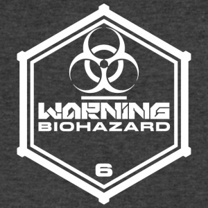 Warning: Biohazard - Men's V-Neck T-Shirt by Canvas