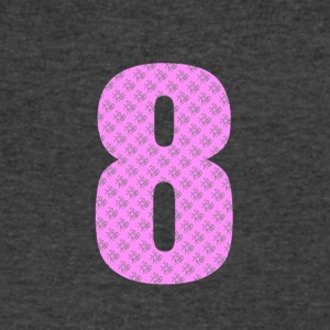 Lucky Number 8 with Lucky Chinese Character - Men's V-Neck T-Shirt by Canvas