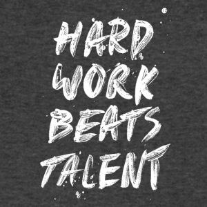 Hard Work Beats Talent-cool shirt,geek hoodie,tank - Men's V-Neck T-Shirt by Canvas