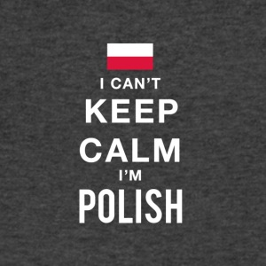 i cant keep calm Im POLISH - Men's V-Neck T-Shirt by Canvas