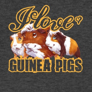 i love guinea pigs shirt - Men's V-Neck T-Shirt by Canvas