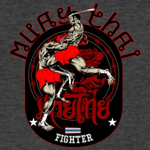 Muay Thai Fighter - Men's V-Neck T-Shirt by Canvas