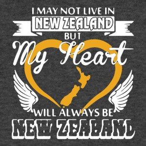 My Heart Will Always Be New Zealand - Men's V-Neck T-Shirt by Canvas