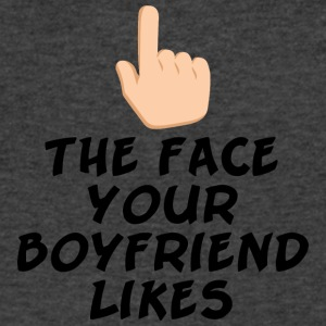 The face your boy friend likes - Men's V-Neck T-Shirt by Canvas