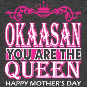 Okaasan You Are The Queen Happy Mothers Day - Men's V-Neck T-Shirt by Canvas