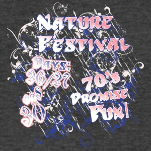 Nature festival seventies - Men's V-Neck T-Shirt by Canvas