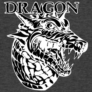 angry_dragon_head_black - Men's V-Neck T-Shirt by Canvas