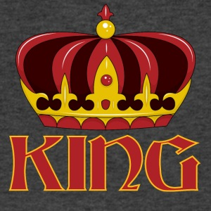 dark red gold king crown - Men's V-Neck T-Shirt by Canvas