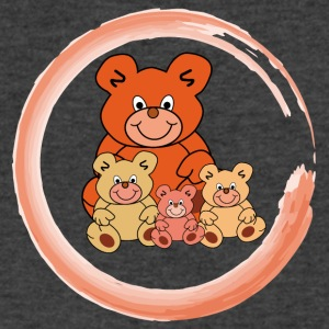Four Teddy bears in a circle - Men's V-Neck T-Shirt by Canvas