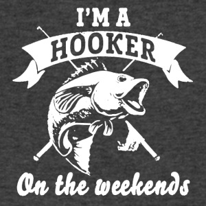 Hooker On The Weekends Tee Shirt - Men's V-Neck T-Shirt by Canvas