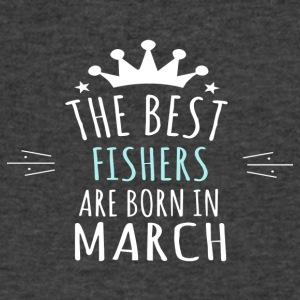 Best FISHERS are born in march - Men's V-Neck T-Shirt by Canvas