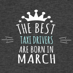 Best TAXI_DRIVERS_ are born in march - Men's V-Neck T-Shirt by Canvas
