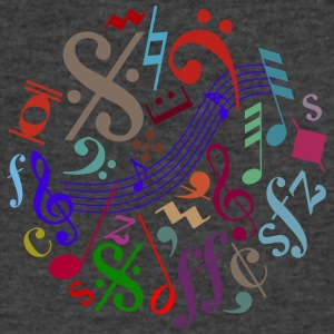 music signs - music notes - Men's V-Neck T-Shirt by Canvas