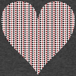 GaMe HeaRT - Men's V-Neck T-Shirt by Canvas