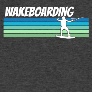 Retro Wakeboarding - Men's V-Neck T-Shirt by Canvas