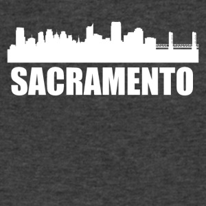 Sacramento CA Skyline - Men's V-Neck T-Shirt by Canvas