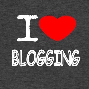 I LOVE BLOGGING - Men's V-Neck T-Shirt by Canvas
